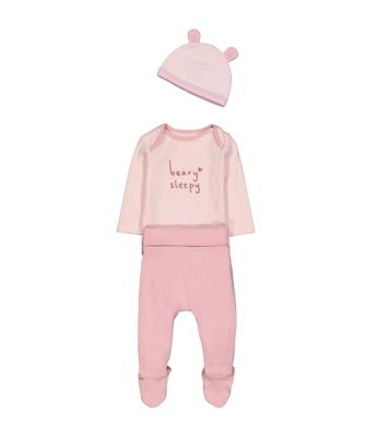 Mothercare Dress Up Pink Bear Three Piece Set