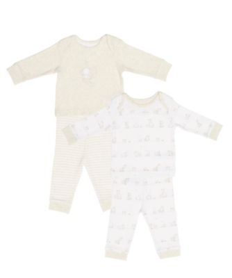 Mothercare My First Elephant And Giraffe Pyjamas - 2 Pack