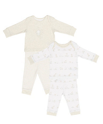 My First Elephant And Giraffe Pyjamas - 2 Pack