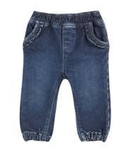 Midwash Ruffle Jeans