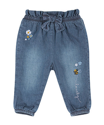 Bee Embroidered Jeans