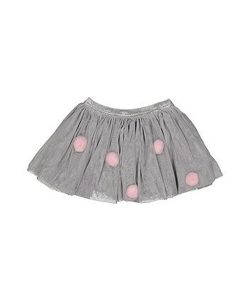 Pom Pom Net Tutu Skirt