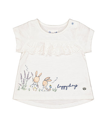 White Bunny Broderie T-Shirt