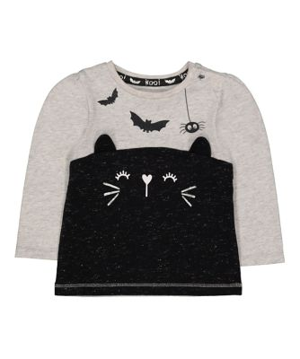 Mothercare Halloween Black Cat T-Shirt