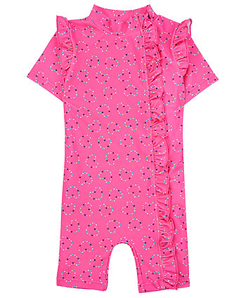 Mothercare Pink Hearts Sunsafe