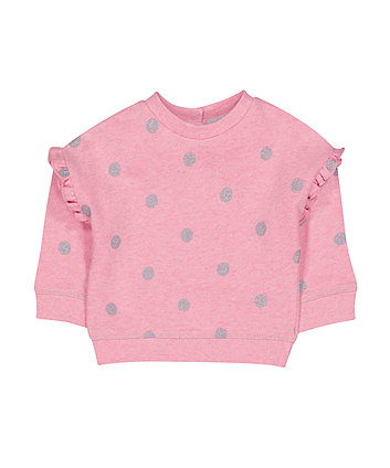 Pink Spot Sweat Top