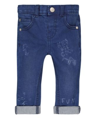 Mothercare World Tribe-Denim Slim Scribble Jeans