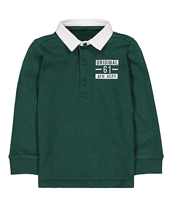 Mothercare Green Rugby Top