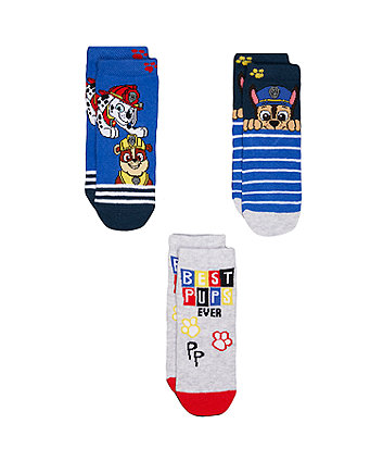 Mothercare Paw Patrol Socks - 3 Pack