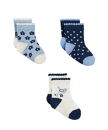 Mothercare Bluebird Socks - 3 Pack