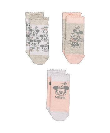Disney Minnie Mouse Socks - 3 Pack