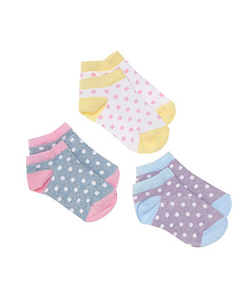 Mothercare Spot Trainer Socks - 3 Pack