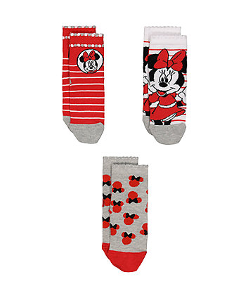 Mothercare Disney Minnie Mouse Socks - 3 Pack