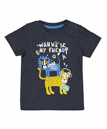 Charcoal Big Cat Friends T-Shirt