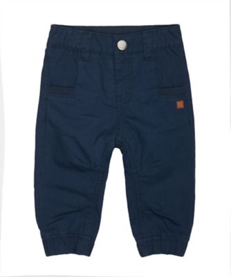 Mothercare Outdoor Adventure Navy Jersey-Lined Woven Trousers