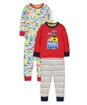 Vehicle Pyjamas - 2 Pack