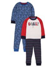 Football Pyjamas - 2 Pack