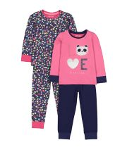 Love Panda Floral Pyjamas