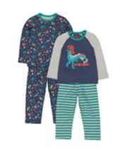 Dinosaur Roar Pyjamas - 2 Pack