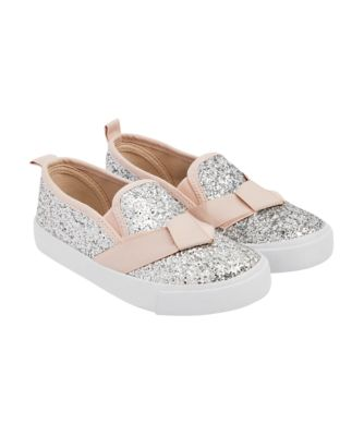 Mothercare Glitter Slip On Canvas Shoes