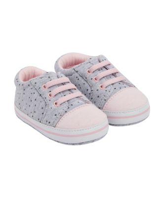 Mothercare Pink And Grey Spot Pram Shoes