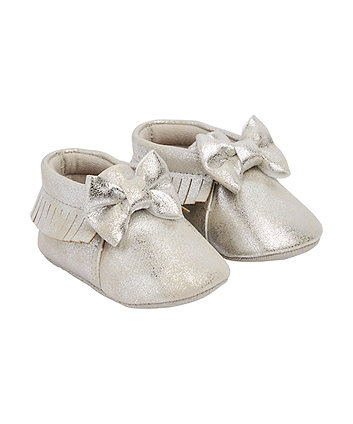 Mothercare Silver Bow Moccasin