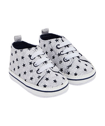 Grey Star Canvas Shoes