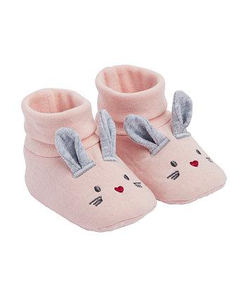 Mothercare Pink Bunny Socktops