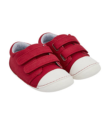Mothercare Red Canvas Crawler Pumps