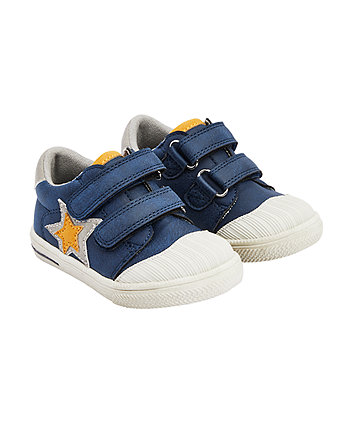 Mothercare First Walker Navy Star Trainers