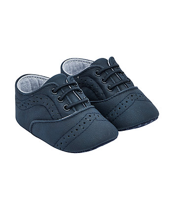 Mothercare Navy Brogue Shoes