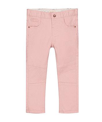 Pink Skinny Biker Jeans