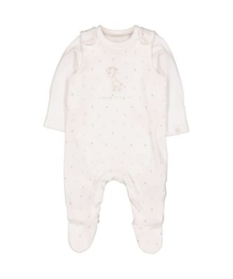 Mothercare My First Little Safari Dungarees And Bodysuit Set