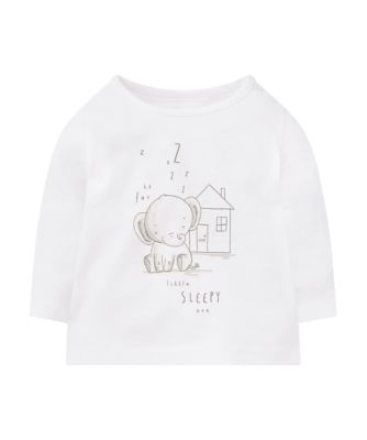Mothercare My First Little Safari White Elephant T-Shirt