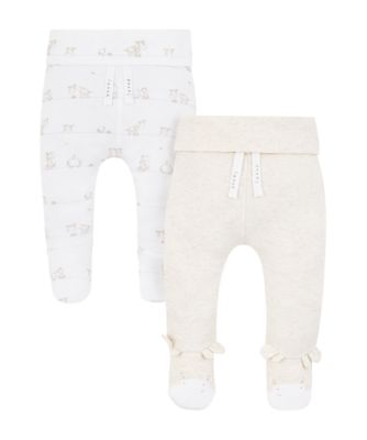 Mothercare My First Little Safari Joggers With Feet - 2 Pack