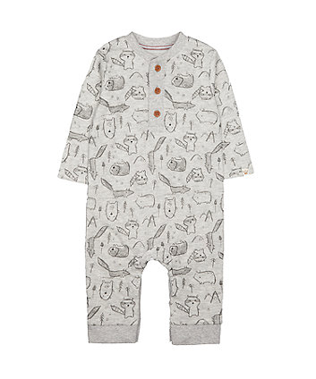 Mothercare Grey Printed All In One