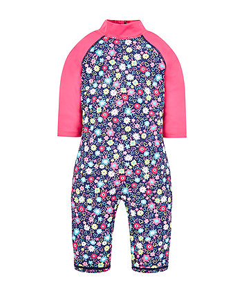 Mothercare Navy Floral Sunsafe