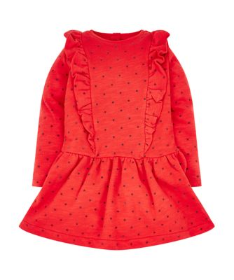 Mothercare Stellar Dancer Red Spot Long Sleeve Dress