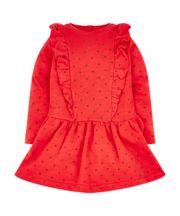 Red Spot Drop-Waist Dress