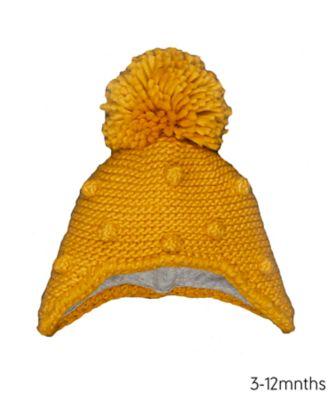 Mothercare Mustard Pom Trapper Hat
