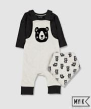 Mothercare My K Bear Dungarees And Bodysuit