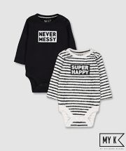 Mothercare My K Super Happy Bodysuits - 2 Pack