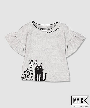 Mothercare My K Grey Frill T-Shirt
