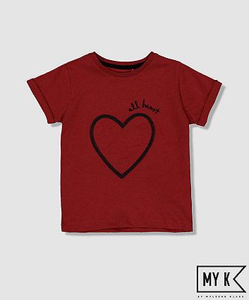 Mothercare My K Burgundy Heart T-Shirt
