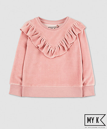 Mothercare My K Pink Velour Sweat Top