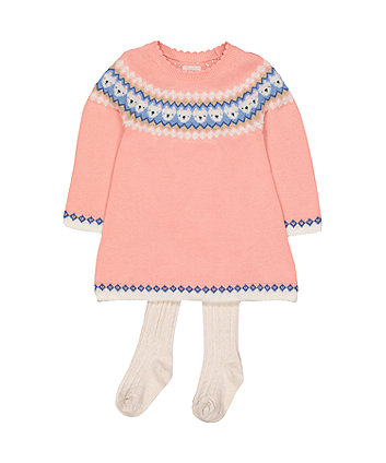 Mothercare Pink Knitted Dress
