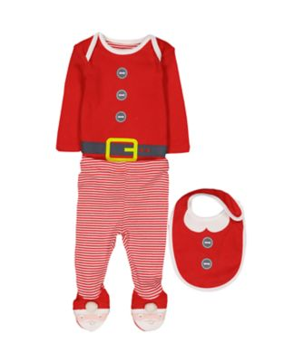 Mothercare Festive Christmas Santa 3 Piece Set