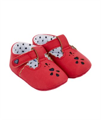 Mothercare Red T-Bar Pram Shoes