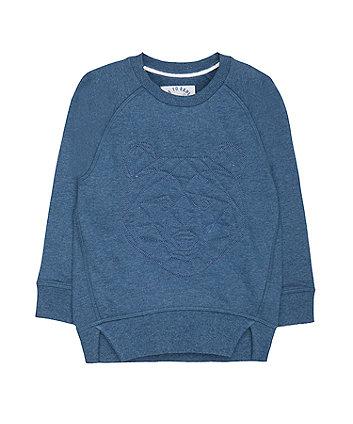 Blue Geo Bear Sweat Top