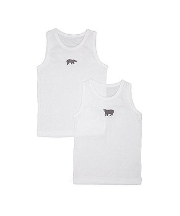 White Bear Vests - 2 Pack